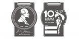 medal 10 Poznań Maraton z wizerunkiem Macieja Frankiewicza