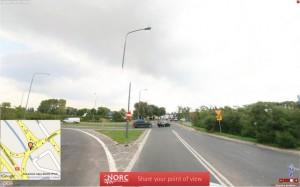Skrzyżowanie ulic Ługańskiej i Ostrowskiej na Szczepankowie