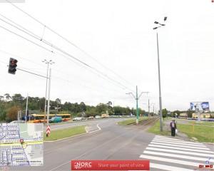 Miejsce wypadku - na ul. Warszawskiej.
