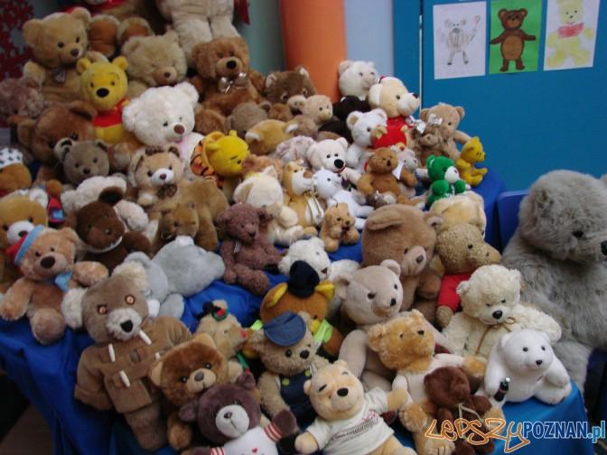 pluszowe misie przyniesione przez dzieci do przedszkola