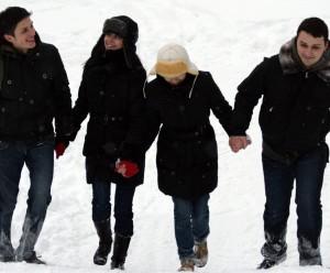 spacer snieg 2