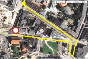 Objazd alei Marcinkowskiego Foto: google maps / lepszyPOZNAN.pl