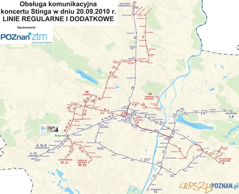 Sting-dojazd-do-stadionu Foto: ZTM