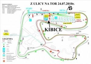 Z Ulicy Na Tor na Torze Poznań - mapa imprezy Foto: www.zulicynator.pl
