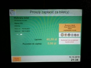 Uszkodzony biltomat Foto: Piotr/gsm