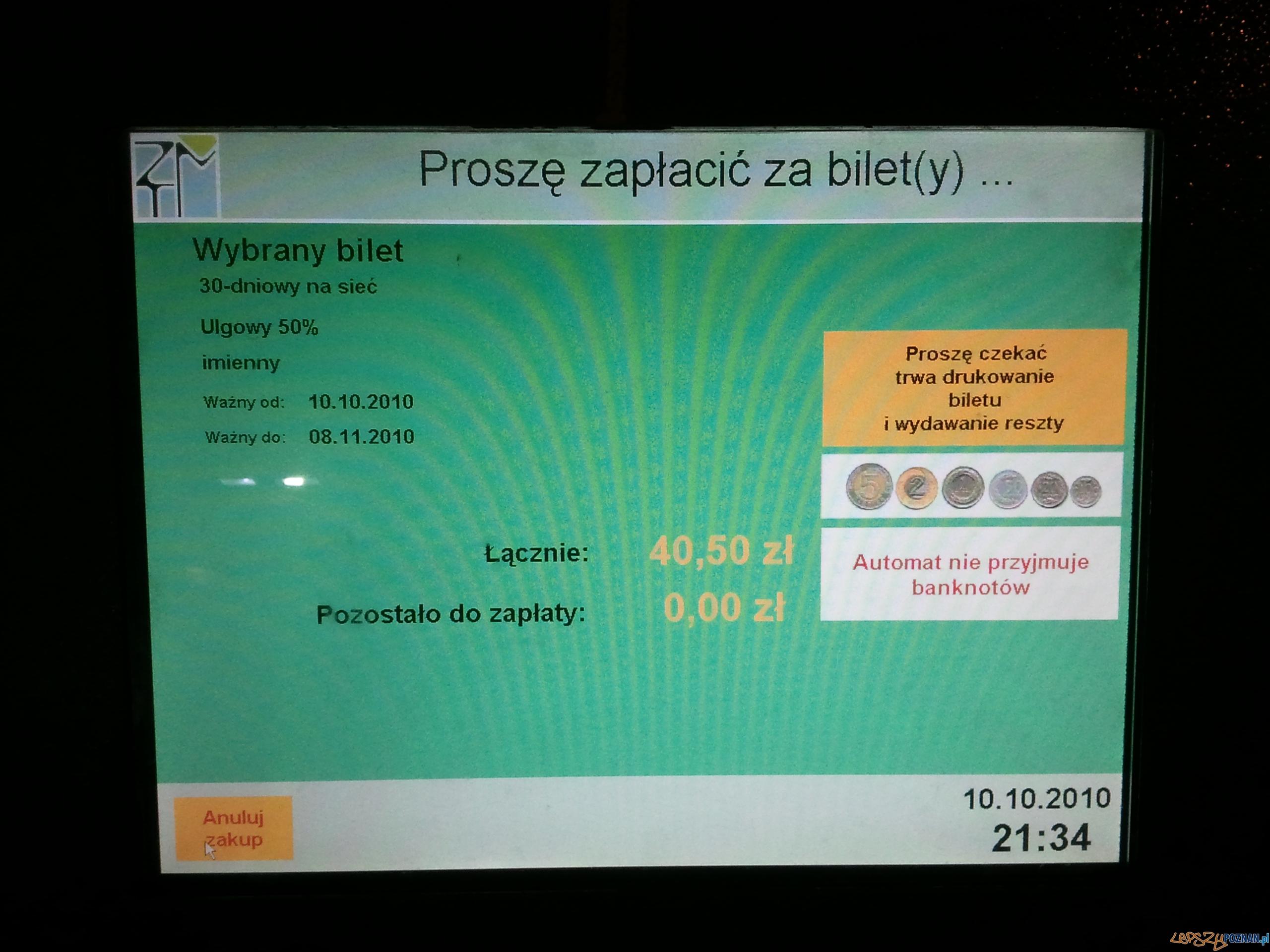 Uszkodzony biltomat  Foto: lepszyPOZNAN.pl / gsm