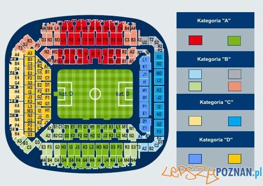 mapka stadionu - strefy Foto: KKS LECH