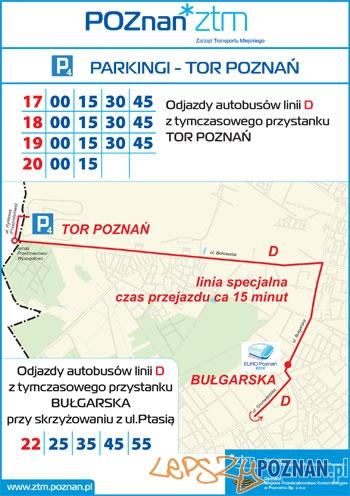 Parking P4 - Tor Poznań Foto: ZTM