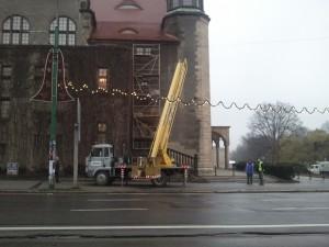 Ozdoby świąteczne przy Auli Uniwersyteckiej Foto: Andrzej /gsm