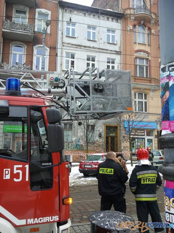 Akcja Strażaków na ulicy Podgórnej  Foto: lepszyPOZNAN.pl