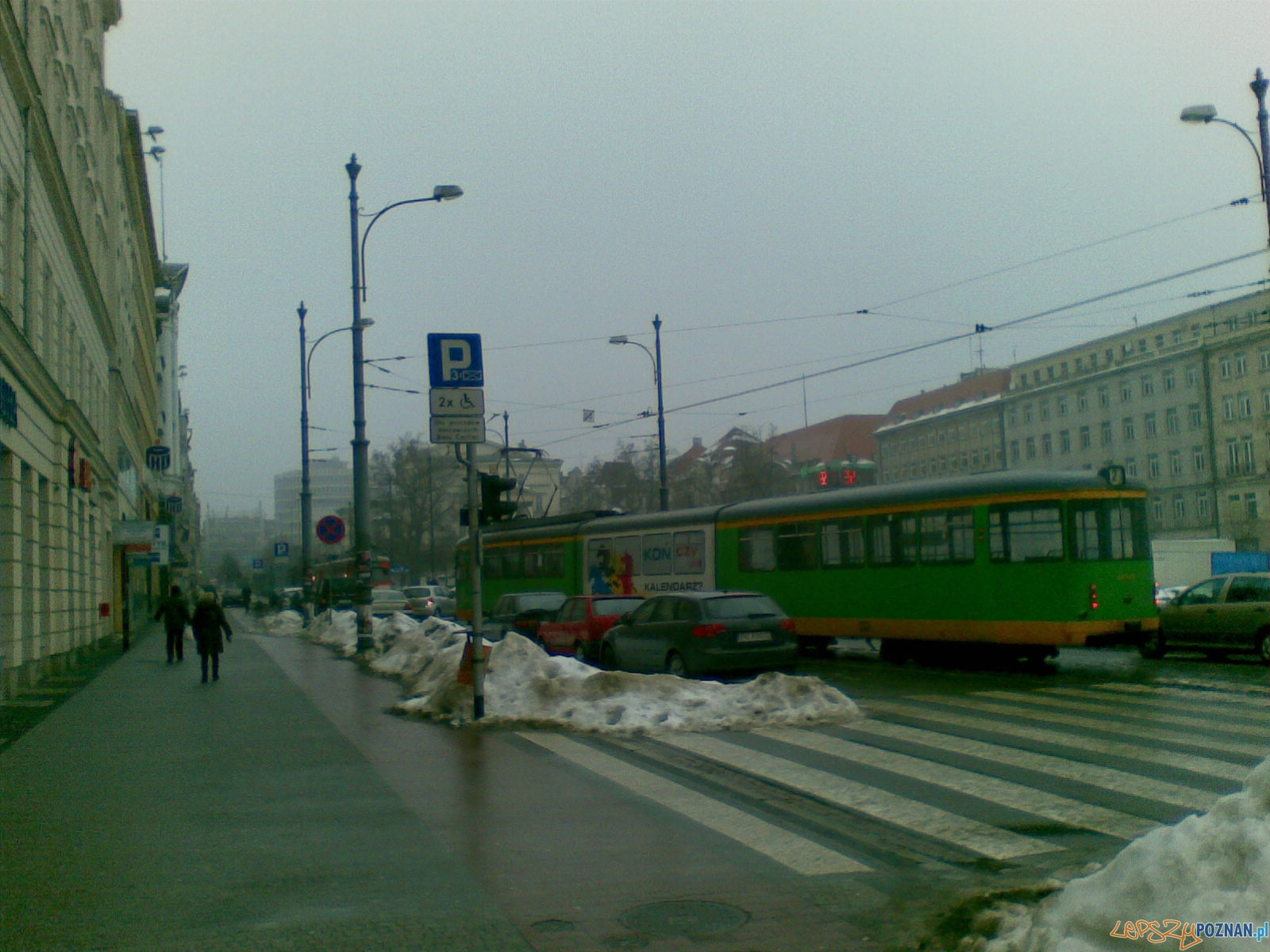 Zablokowane tramwaje na placu Wolności i Alejach Marcinkowskiego  Foto: gsm