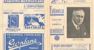 Fragment programu Teatru Polskiego, dyrekcja Bolesław Szczurkiewicz, rok 1932