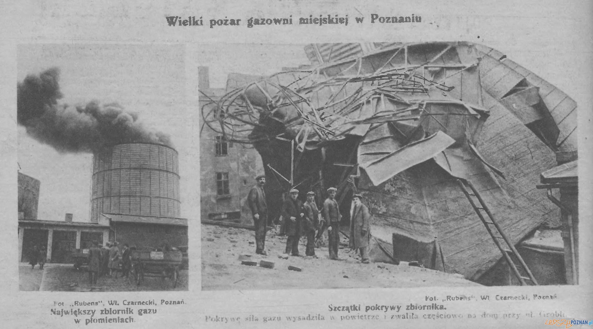 Pożar Gazowni w Poznaniu 1926 za Przewodnikiem Katolickim
