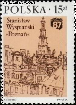Poznan na znaczkach 1987 Foto: katalogznaczkow.net