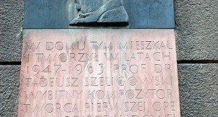 Tablica pamiatkowa na budynku przy ulicy Chełmońskiego
