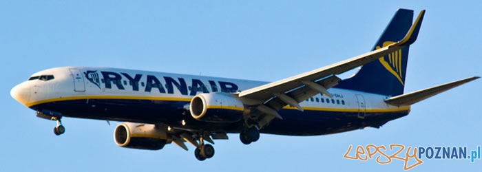 Samolot RyanAir - Panorama Foto: lepszyPOZNAN.pl / Piotr Rychter