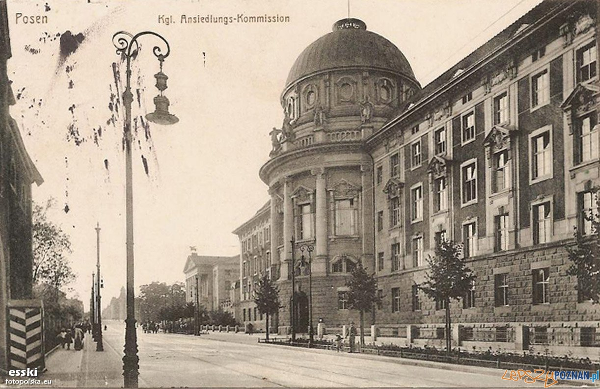 Budynek Hakaty, dziś Collegium Maius Uniwersytetu Adama Mickiewicza (1914) Foto: fotopolska
