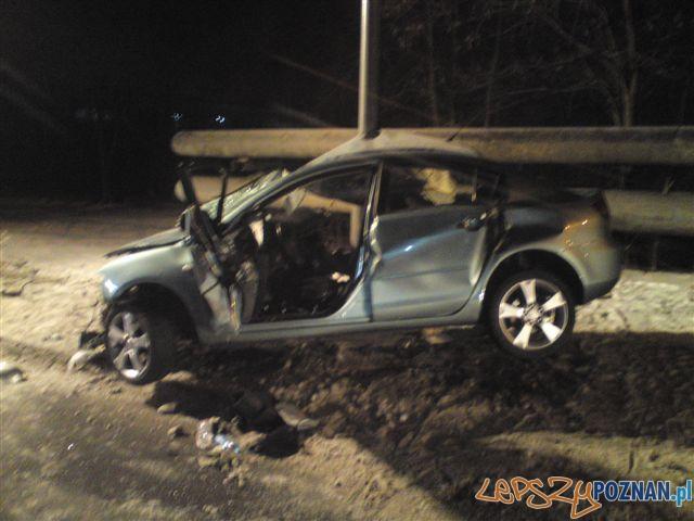 Śmiertelny wypadek na Strzeszyńskiej  Foto: KM PSP w Poznaniu / JRG-5