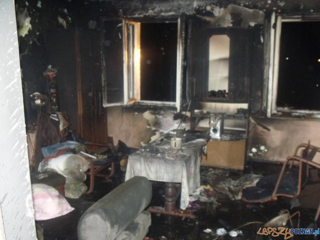 pożar na Gnieźnieńskiej  Foto: KM PSP