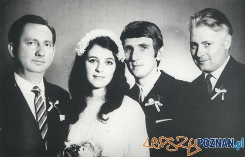 Lech Konopiński na zdjęciu ślubnym Anny Jantar (pierwszy po prawej)