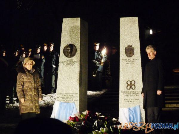Pomnik prezydenta Wojciecha Szczęsnego Kaczmarka na Cmentarzu Zasłużonych Wielkopolan