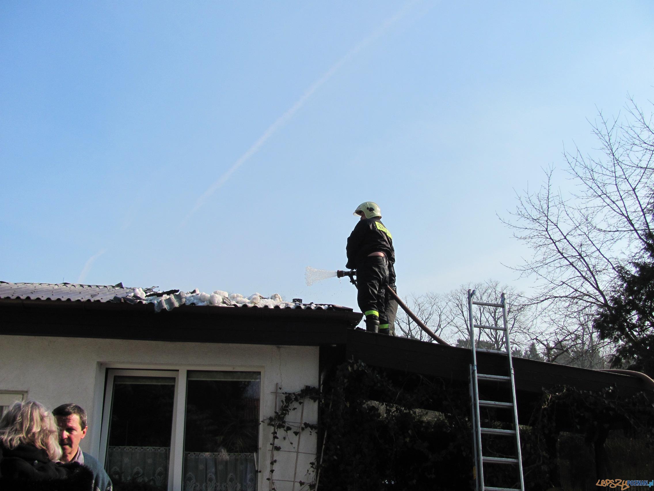Pożar na Różanej  Foto: UM Puszczykowa