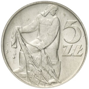5 zł Rybak rok 1974