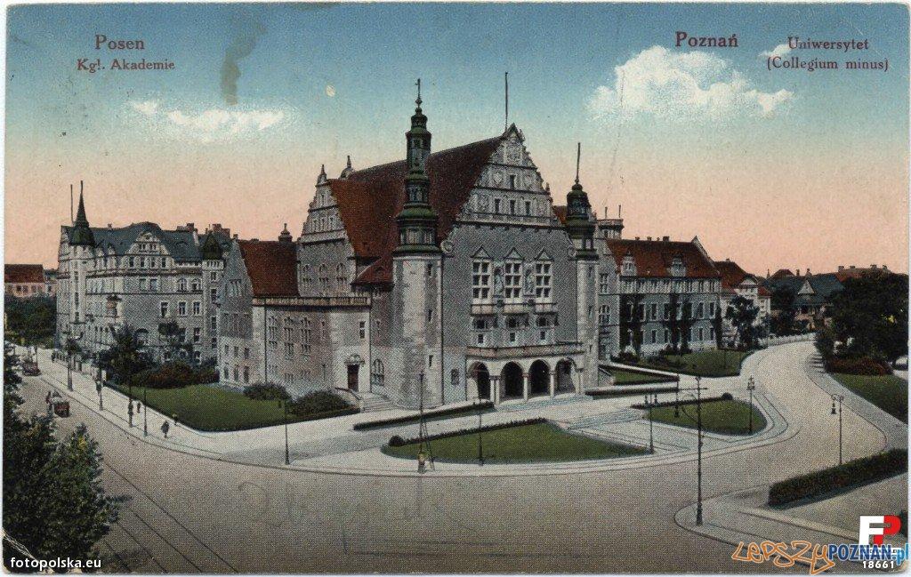 Collegium Minus Uniwersytetu w 1919 roku Foto: fotopolska