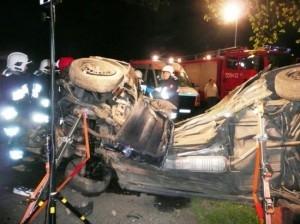 Tragiczny wypadek w Złotowie Foto: KW PSP