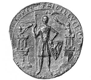 Pieczęć piesza Przemysła I z 1252