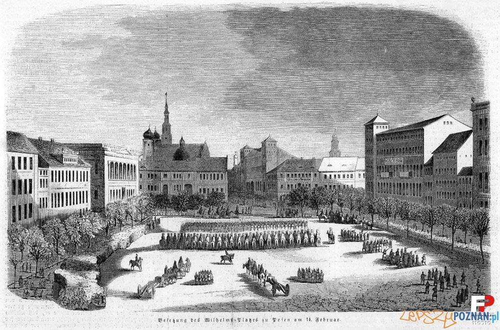 Plac Wolności w Poznaniu, rycina z pierwszej połowy XIX wieku Foto: fotopolska.eu
