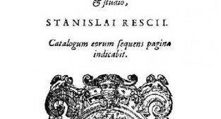 Prace kardynała Hozjusza wydane za stareniem księdza Stanisława Reszki