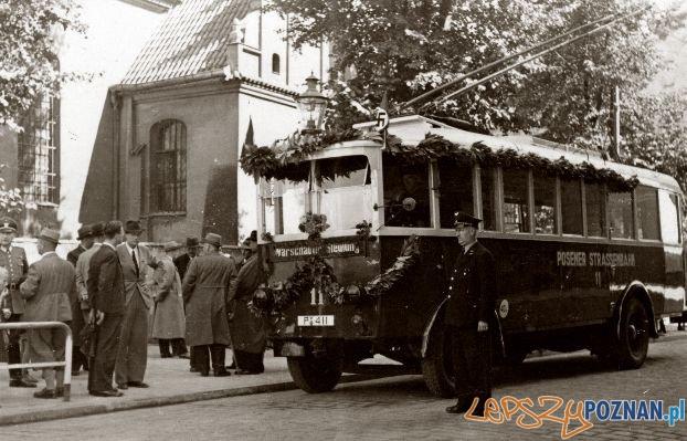 Trolejbus na Śródce, czasuyokupacji Foto: Archiwum MPK