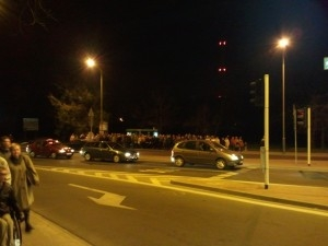 Tłumy na przystankach wokół Cytadeli Foto: lepszyPOZNAN.pl / gsm