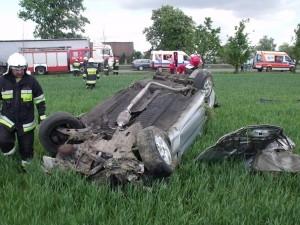 Wypadek pod Kostrzynem Foto: KM PSP w Poznaniu