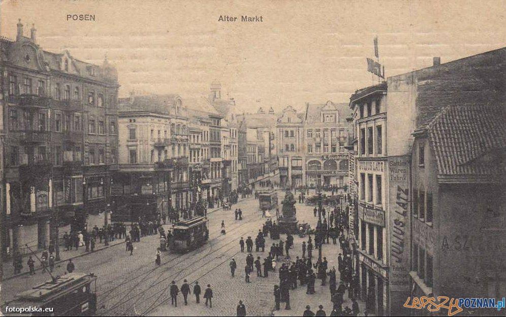 Stary Rynek w Poznaniu, rok 1909