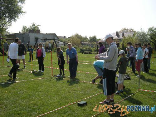Zawodnicy na turnieju w boules w Luboniu Foto: M.Kalinowska