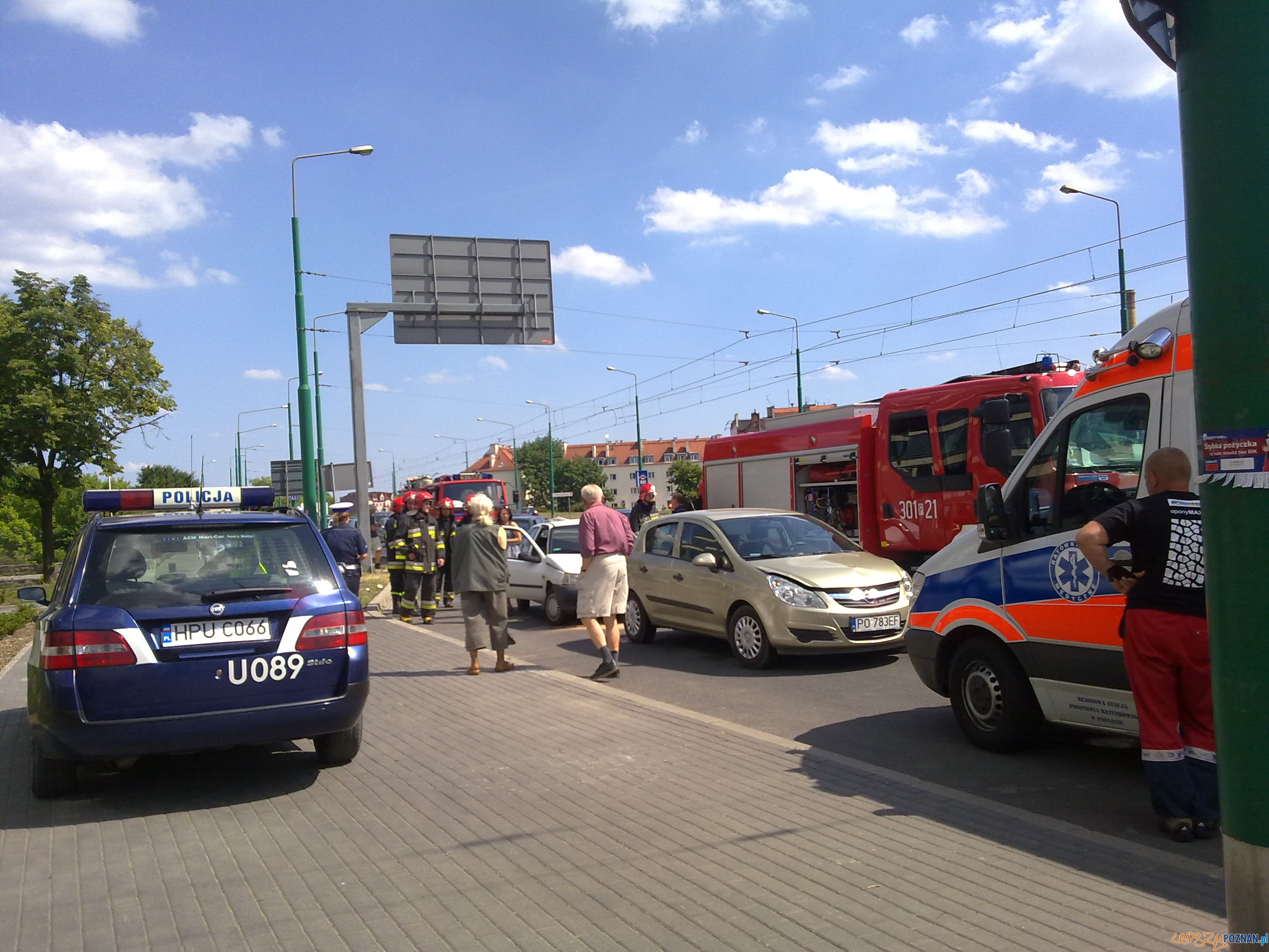Kraksa na Estkowskiego (5)  Foto: