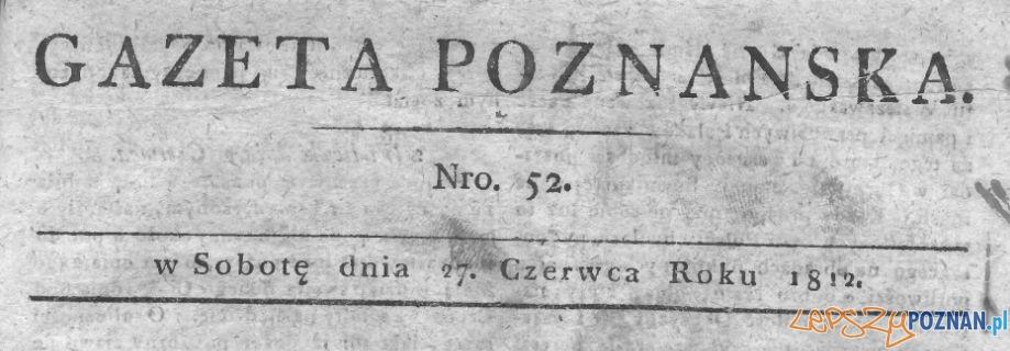 Gazeta Poznańska 27 czerwca 1812