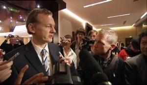 """Fot. Kadr z filmu """"WikiRebels"""", reż. Jesper Huor, Bosse Lindquist, Szwecja 2010, 58'"""
