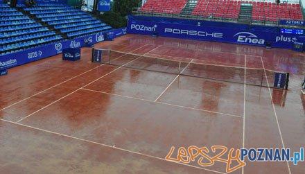Korty pełne deszczu... Foto: Poznań Porsche Open