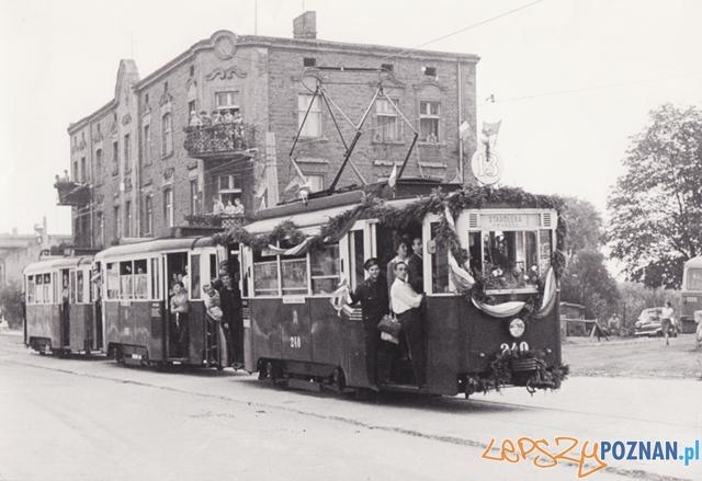 Otwarcie linii tramwajowej na Starołekę do dworca PKP, 28 lipca 1967 Foto: poznan.wikia.com