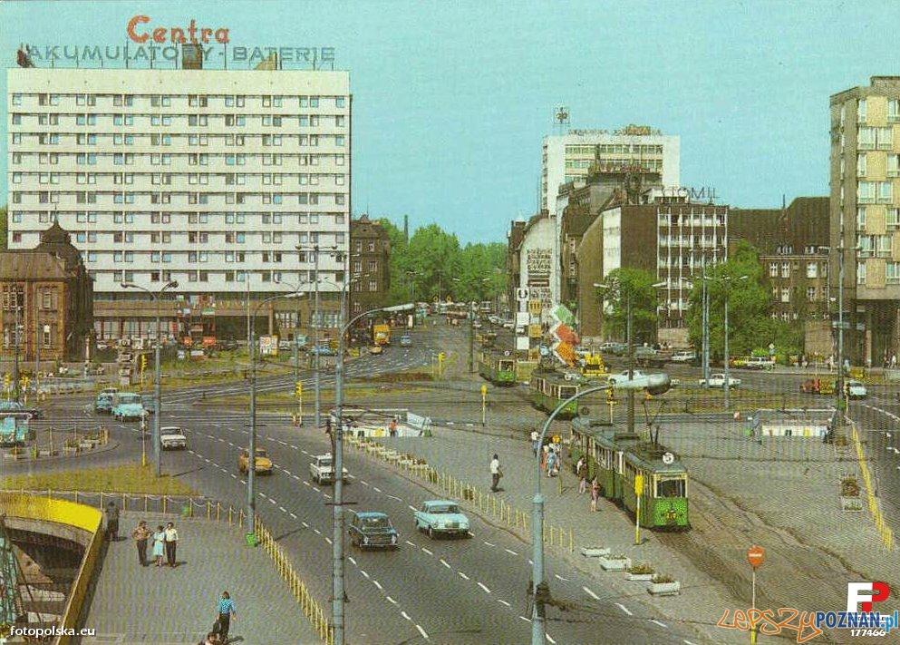 Rondo Kaponiera - wtedy Kopernika i Dom Studencki Jowita - koniec lat 70-tych