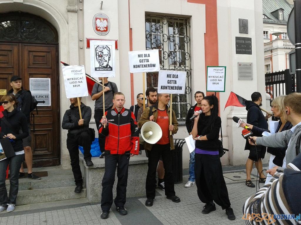 Pikieta pod Urzędem Miasta  Foto: lepszyPOZNAN.pl / Paweł Rychter