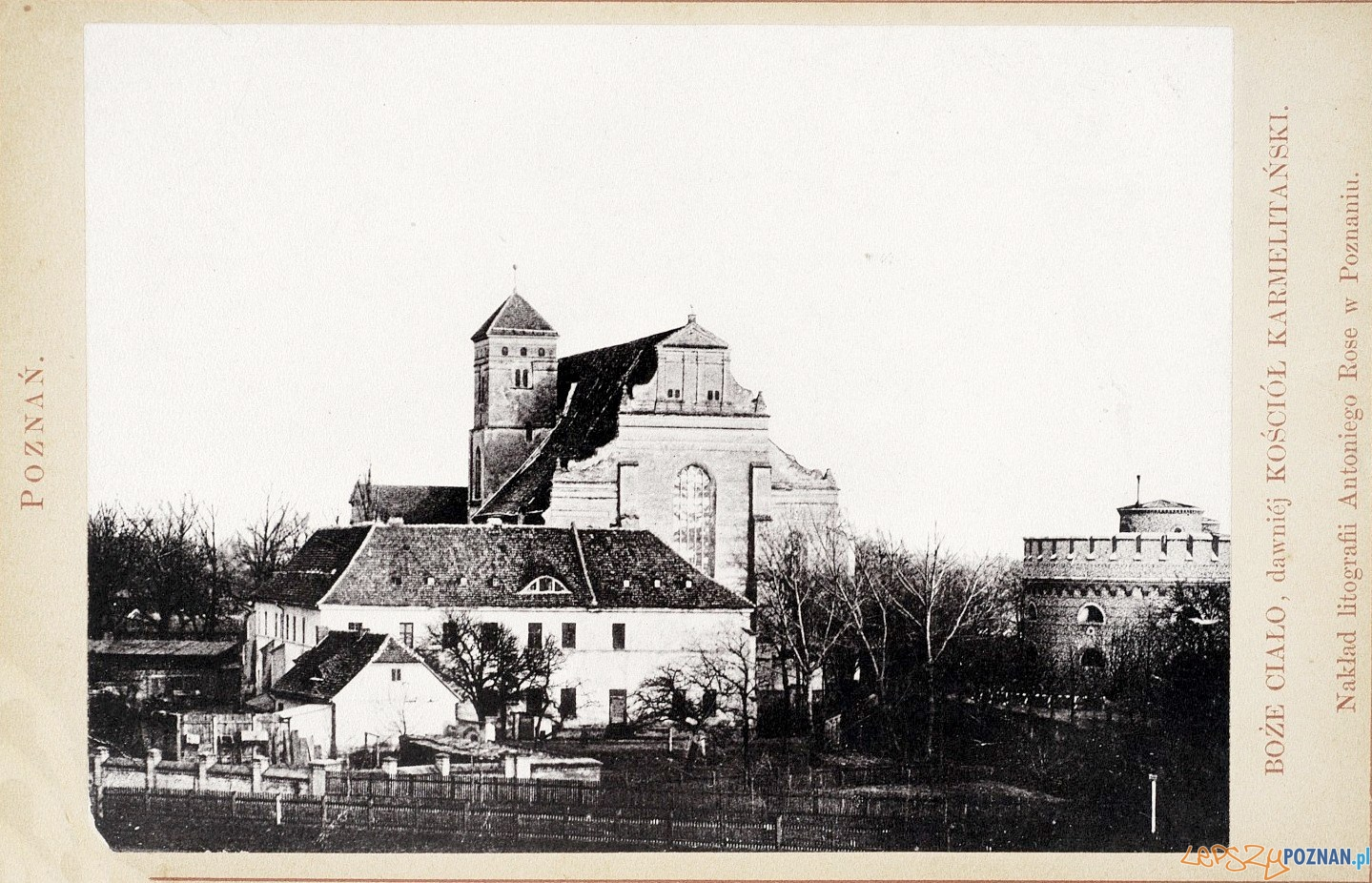 Kościół Bożego Ciała, rok 1884 Foto: fotopolska.eu