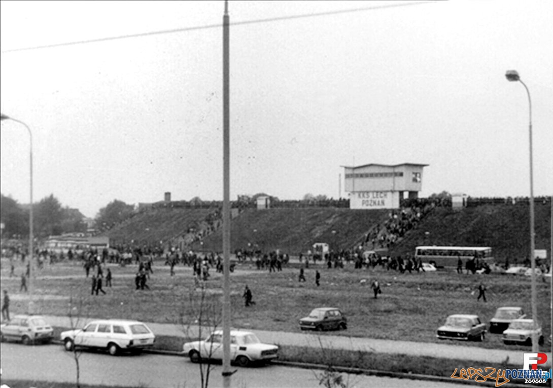 Stadion Lecha w roku 1980 Foto: fotopolska.eu