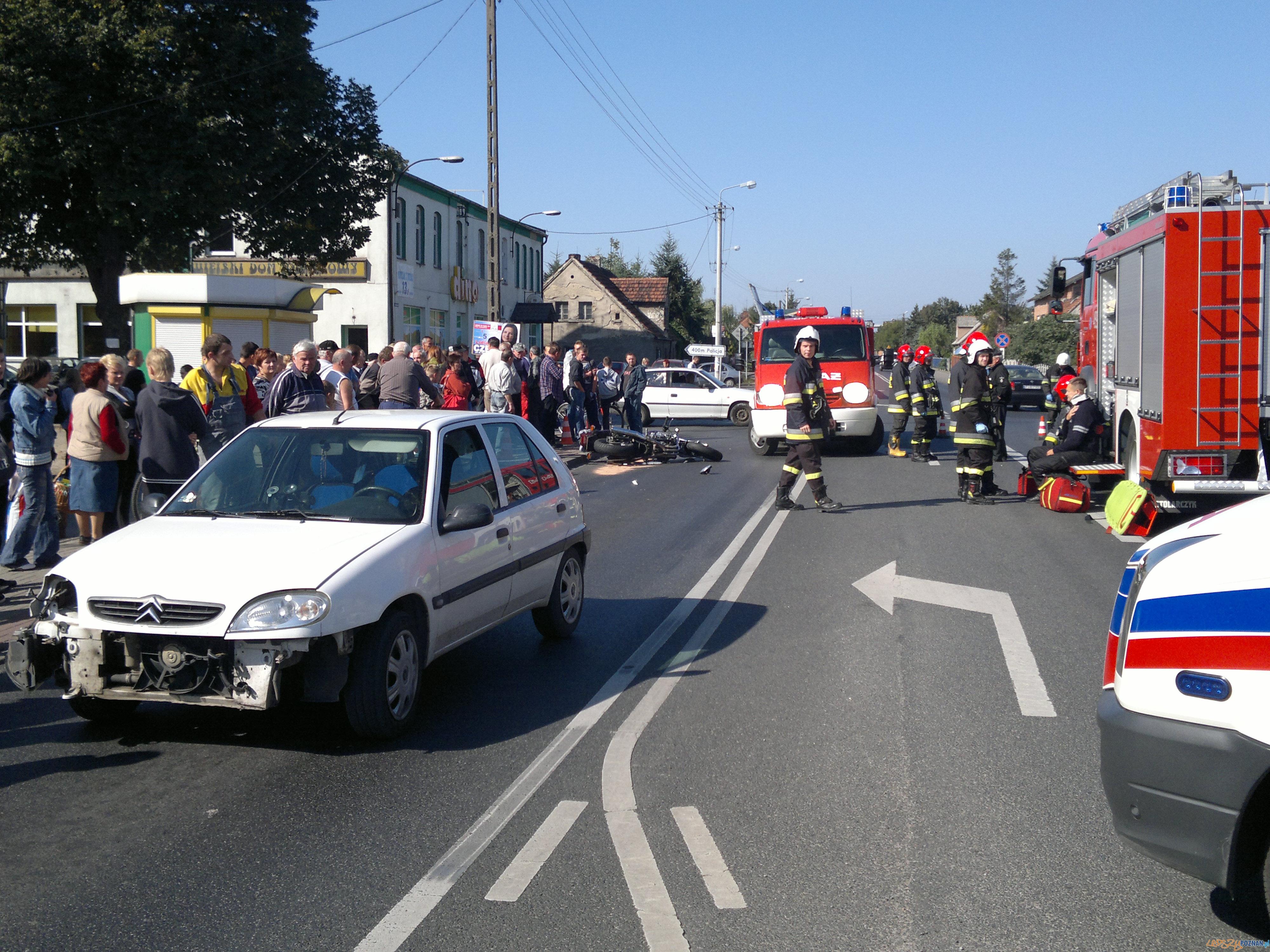 Wypadek w Kotlinie  Foto: Piotr Woldański