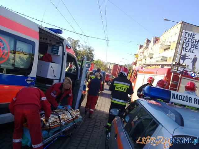 Wypadek na Głogowskiej Foto: lepszyPOZNAN.pl / gsm
