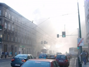 Pożar na Łazarzu Foto: lazarz.pl