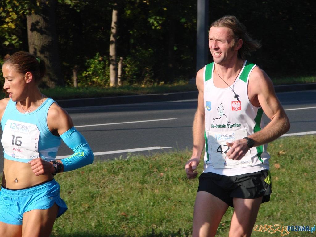 12 Poznań Maraton - I okrążenie z numerem 16 Arleta Meloch z Grudziądza - najlepsza wśród pań  Foto: lepszyPOZNAN.pl / ag